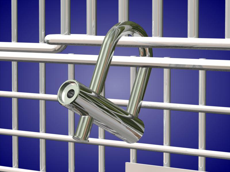Quarter Turn Cage Lock on Cage